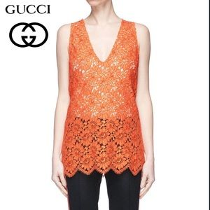 NWT Gucci Floral Lace Sleeveless Top Sz Small
